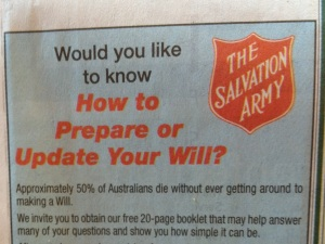The Will of The Salvation Army